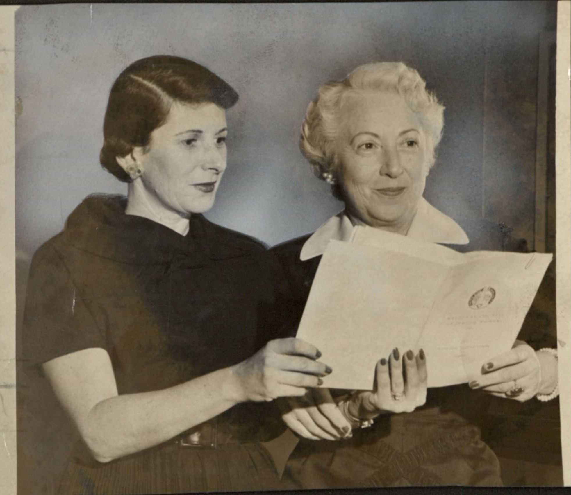 Phyllis Dennery and Gladys Cahn